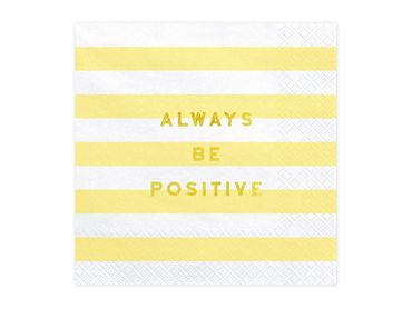 Ruokaservetti - Always be positive