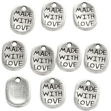 Metallikoriste - Made with love, 10 kpl