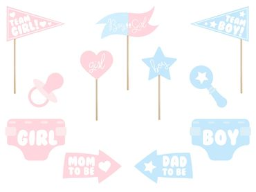 Photo Booth -tikut - Baby shower/Gender reveal