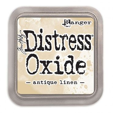 Distress Oxide -mustetyyny - Antique linen