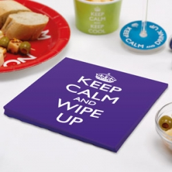 Ruokaservetti - Keep calm and wipe up